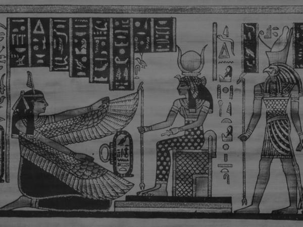 Ägyptische Wandmalerei
