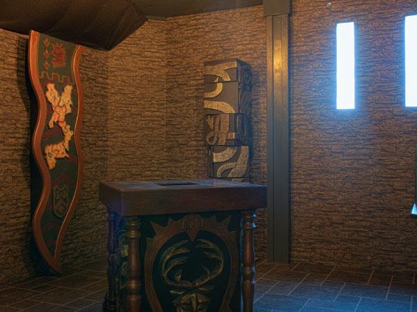 Waffenkammer in einem Schloss