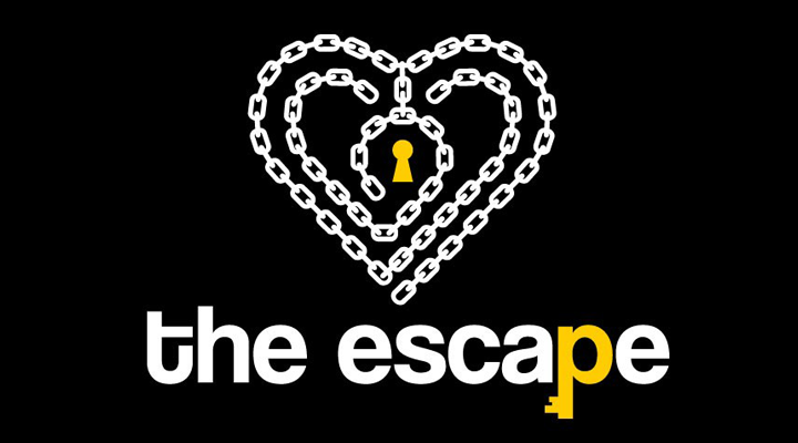 Logo von the escape in Herzform