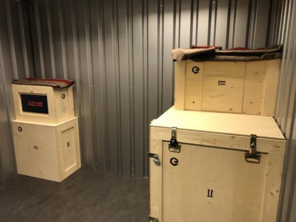 Lagerraum mit Holzkisten